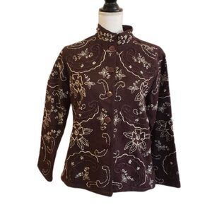Casual Studio Embroidered Jacket Cotton
